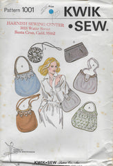 Kwik 1001 Accessories 70s Purse Sewing Pattern in Two Sizes