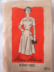 Anne Adams R4562 Women's 50s Day Dress Unprinted Sewing Pattern Bust 38 - Great Sewing Patterns - 1