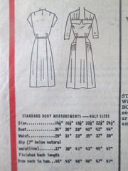 Anne Adams R4562 Women's 50s Day Dress Unprinted Sewing Pattern Bust 38 - Great Sewing Patterns - 3
