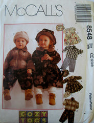 McCalls 8548 Child Sewing Pattern Jacket, Dress, Pants, Hat Size 2, 3, 4 Breast 21 to 23 - Great Sewing Patterns - 1