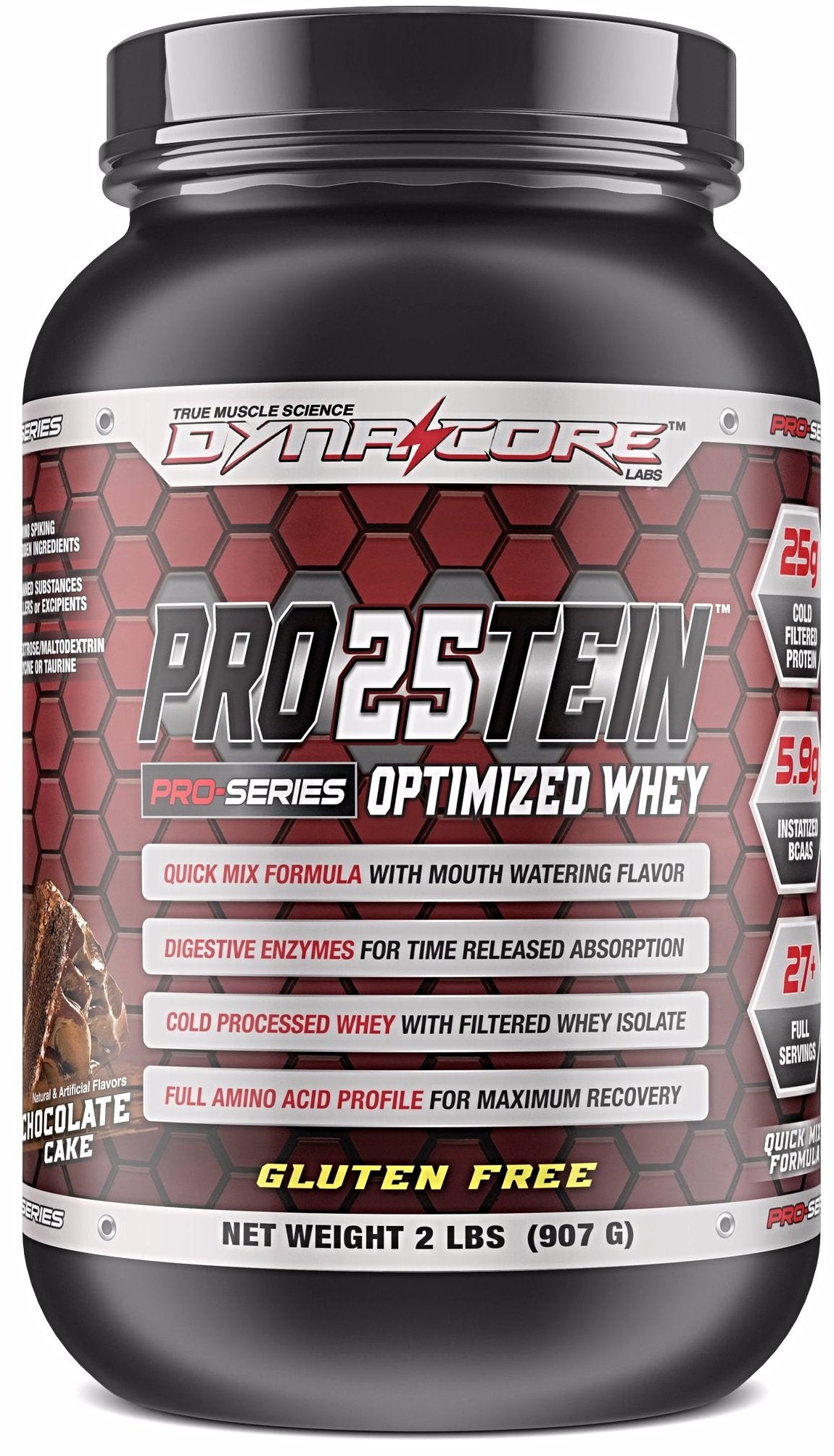 Dyna-Core Labs-Pro25tein- Optimized Whey Protein-Chocolate Cake