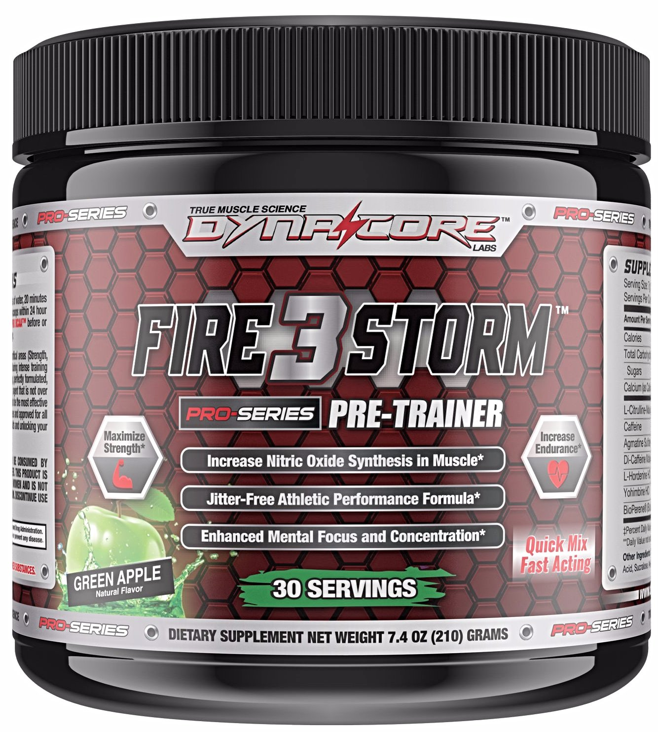 Firestorm 3 Pre-Training Powder - Dyna-Core labs- Green Apple