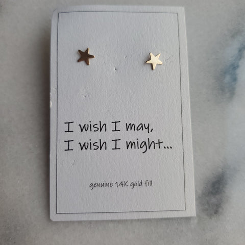 Sterling Silver Gold Fill Stud - Star
