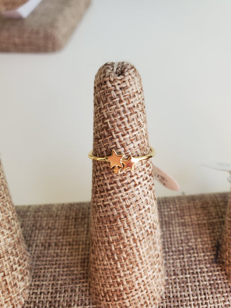 Gold Star Ring - Size 8