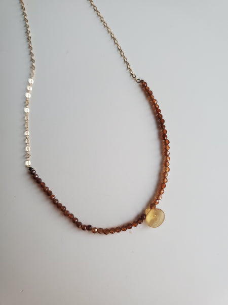 Rutilated Quartz & Citrine Necklace