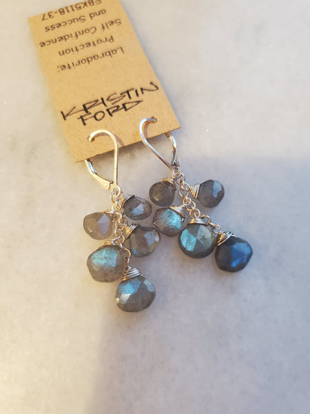 Kristen Ford - Labradorite Multi Stone Earrings