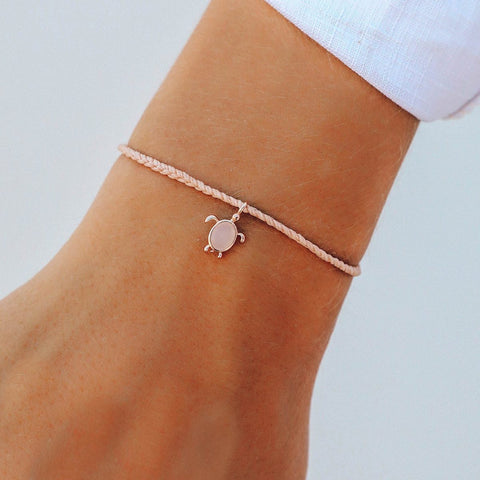 Pura Vida Rose Gold Save the Sea Turtles Charm in Blush