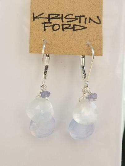Kristen Ford - Chalcedony & Moonstone Earrings