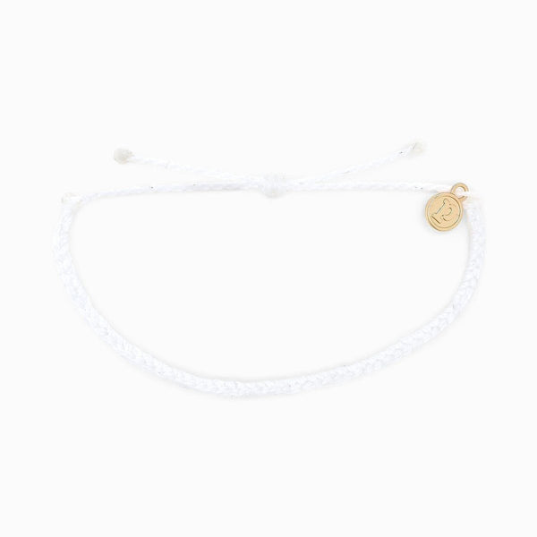 Pura Vida Solid Braided Bracelet in White