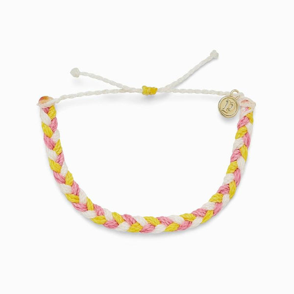 Pura Vida Multi Braided Strawberry Lemonade Bracelet