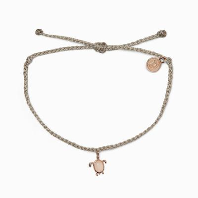Pura Vida Rose Gold Save the Sea Turtles Charm in Light Grey