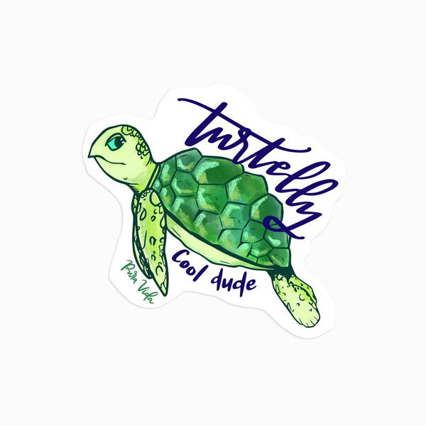 Pura Vida Turtelly Cool Sticker