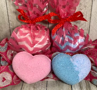 Valentine's Bubble Bath Bomb Heart