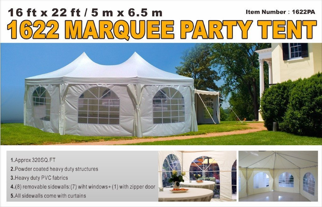 16 39 x 22 39 marquee party tent tmg industrial. Black Bedroom Furniture Sets. Home Design Ideas