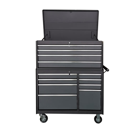 "41"" Tool Chest with 12 Drawers, Heavy-Duty Powder Coated Finish, 1000lb capacity, Gas Strut Lid Support"