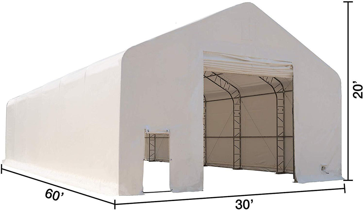 30' x 60' Dual Truss Prefab Shelter with Heavy Duty 17oz PVC Fabric