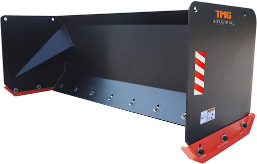 9ft Snow Pusher for Skid-Steers with Steel Cutting Edge