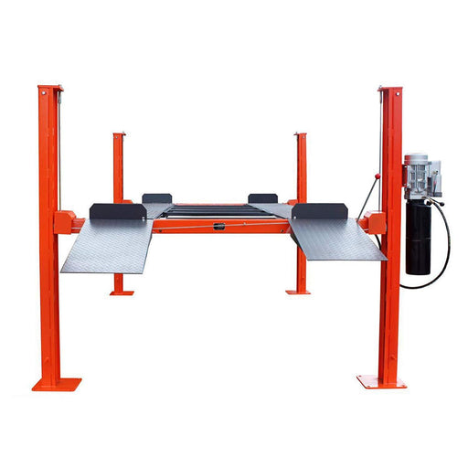 9000 lb Four-Post Automotive Lift with Removable Ramp | CETL Certified Power Unit