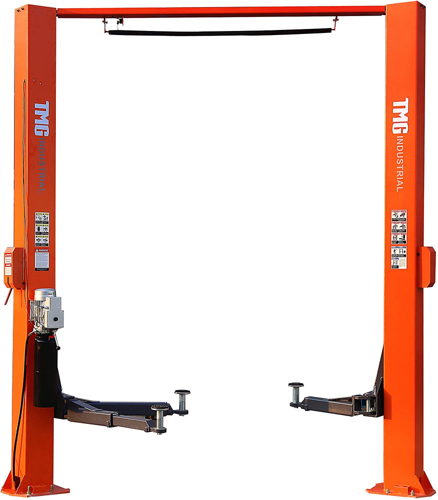 10,000 lb Asymmetric Two Post Clear Floor Auto Lift