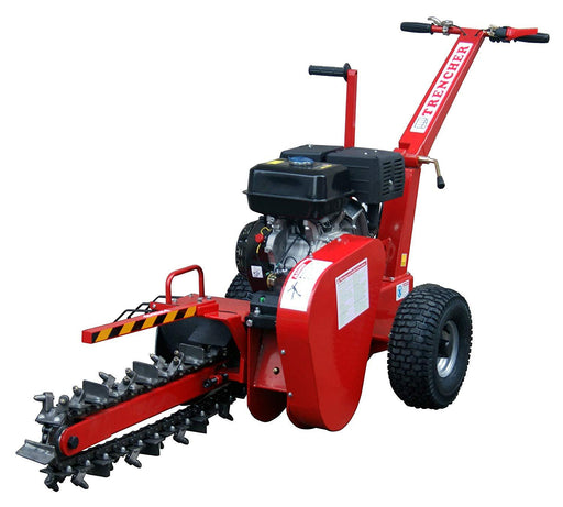 "Walk Behind Adjustable Trencher with 4"" Trench Width and 14HP Kohler Engine"