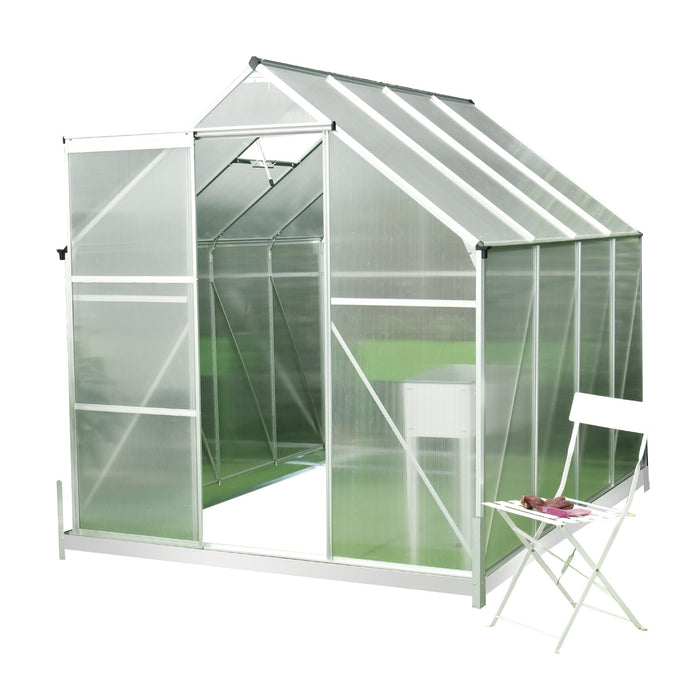 6ft x 8ft Aluminum Hobby Greenhouse with Metal Base