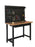 "48"" Bamboo Workbench with Pegboard and Drawer – Heavy-Duty Powder-Coated Steel Frame, 500 Lbs Weight Capacity"
