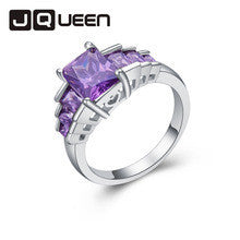 1 PC Amethyst Colorful Morganite Garnet Ring Size 6 7 8 9 10 More Square Orange Office Party Jewelry Wholesale Free Shipping - Alternative Measures