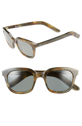 'Dudley' 47mm Polarized Retro Sunglasses - Alternative Measures