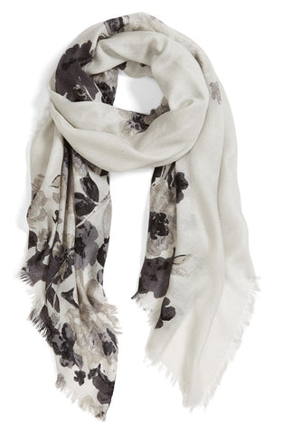 'Floral Shadow' Cashmere & Silk Scarf - Alternative Measures