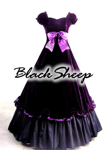 Gothic Victorian Steampunk Custom Made Gown Bridal - Alternative Measures