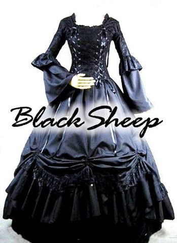 Gothic Vintage Alternative Victorian Style Formal Wedding Gown Custom Made by Black Sheep Bride - Alternative Measures