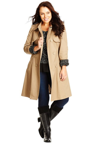 'Caramel Kisses' Trench Coat (Plus Size) - Alternative Measures