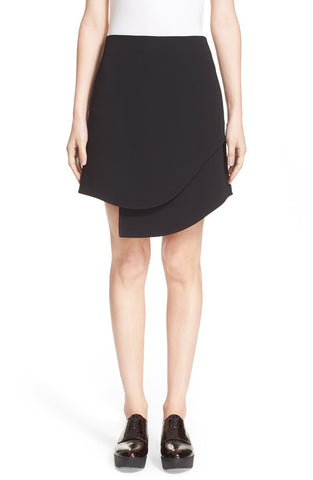 'Talene' Textured Crepe Overlap Miniskirt - Alternative Measures