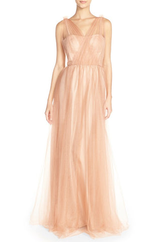 'Emmy' Illusion V-Neck Gown - Alternative Measures