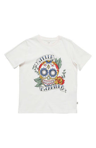'Arlo' Skull Print Organic Cotton Tee (Toddler Girls, Little Girls & Big Girls) - Alternative Measures