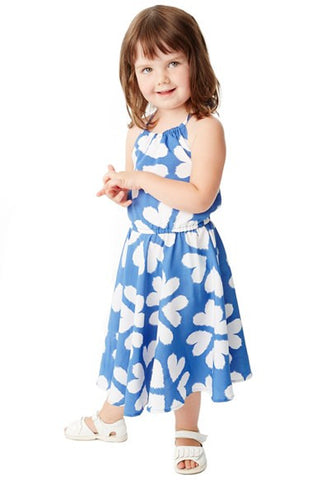 'Island' Print Halter Dress (Toddler Girls, Little Girls & Big Girls) - Brides & Bridesmaids - Wedding, Bridal, Prom, Formal Gown - Alternative Measures