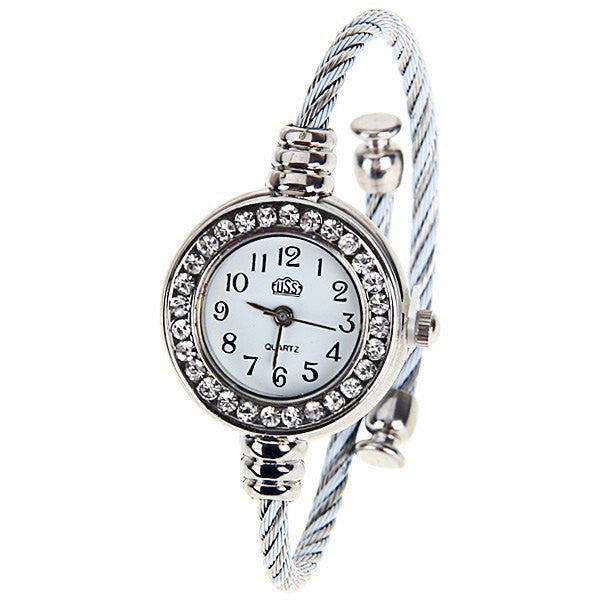 NEW ARRIVAL Silver Bangle Collectible Analog Watch For Women - Alternative Measures -