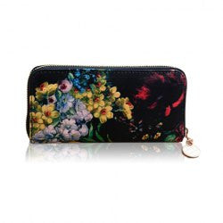 Stylish Floral Print and Zipper Design Women's Wallet - Alternative Measures -
