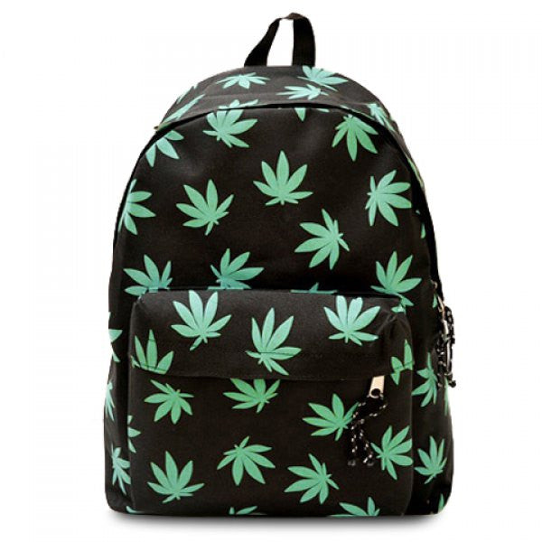 Weed Leaf Black Satchel Backpack - Alternative Measures -