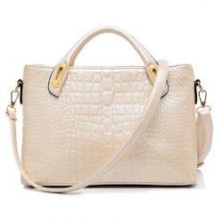 Stylish Solid Color and Crocodile Print Design Women's Tote Bag - Alternative Measures -