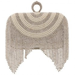 Beading and Fringe Design Women's Evening Bag - Alternative Measures