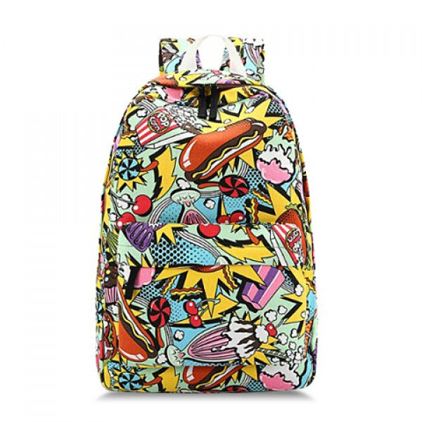 Retro Elements Print Satchel Backpack - Alternative Measures -