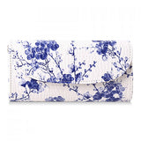 Vintage Style Spring Floral Clutch Bag - Blue - Alternative Measures -  - 1