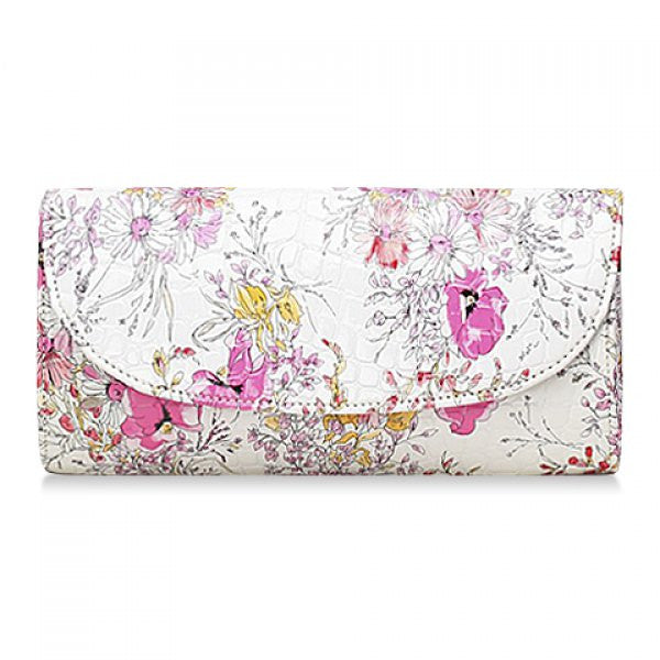 Vintage Style Spring Floral Clutch Bag - Pink - Alternative Measures -  - 1