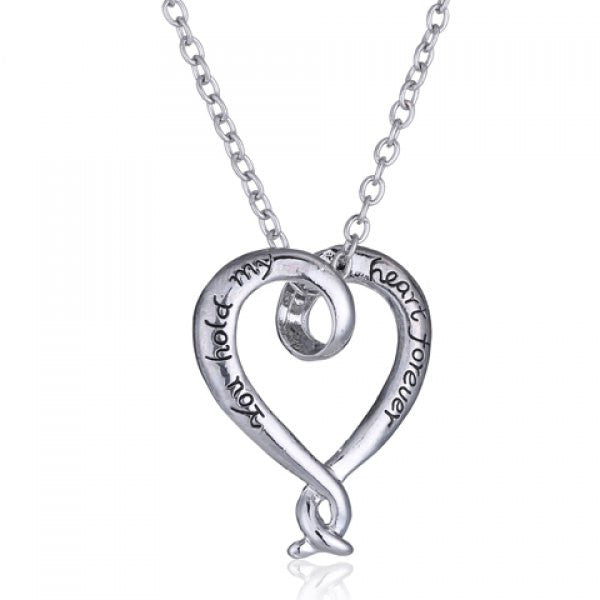 You Hold My Heart Forever Pendant Necklace