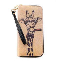 Sweet Zipper and Giraffe Print Design Women's Wallet - Alternative Measures -