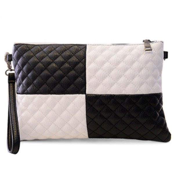 Black & White Checkered Clutch Purse - Alternative Measures