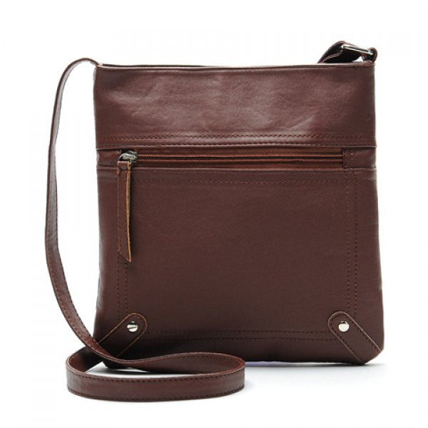 PU Leather Crossbody Bag/Shoulder Bag For Women - Dark Brown - Alternative Measures - Dark Brown - 1