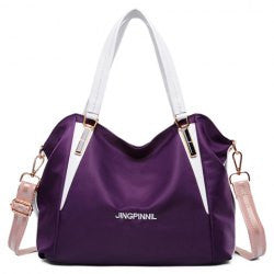 Style Color Block and Zipper Design Women's Shoulder Bag - Alternative Measures -