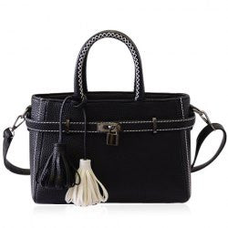 Graceful Lock and Tassels Design Women's Vintage Bag - Alternative Measures